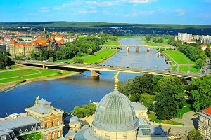 View of Elbe river,Dresden,Germany