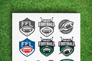 Fantasy football league logos