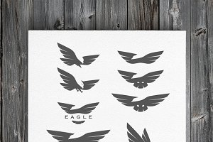 Negative space eagle logos