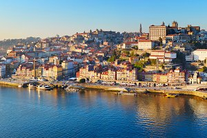 Porto Old Town panorama,Portugal