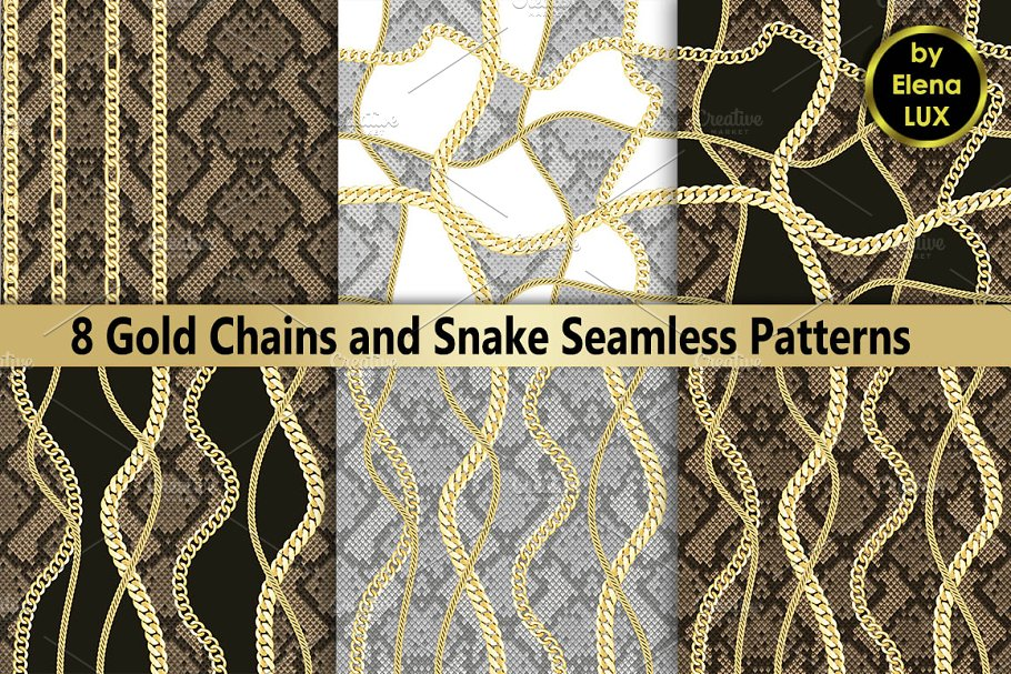 Chains and Snake Seamless Set