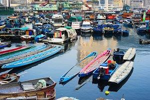 Aberdeen floating village,Hong Kong