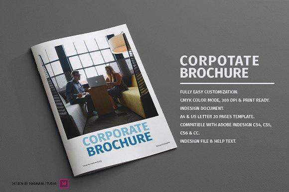 Polygonal Corporate Brochure Template Vector Free Download Free