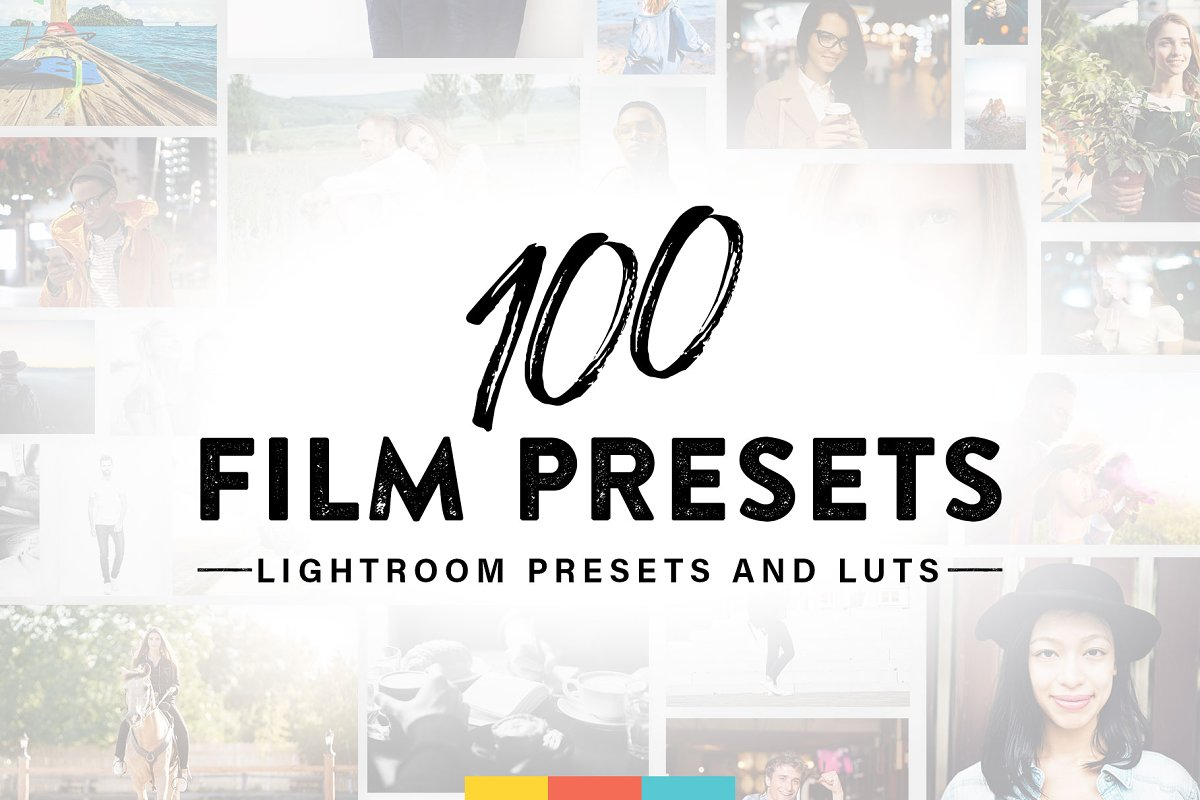 100 Film Lightroom Presets and LUTs ~ Photoshop Add-Ons
