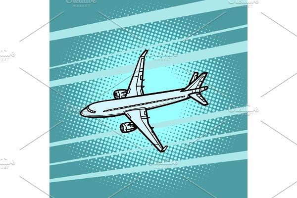 aircraft air transport blue