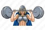 Warrior Woman Weightlifter Lifting