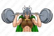 Viking Warrior Woman Weightlifter