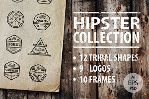 HIPSTER LOGOS AND SHAPES COLLECTION