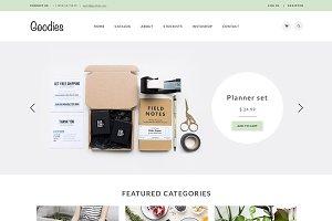 Goodies — elegant shop template