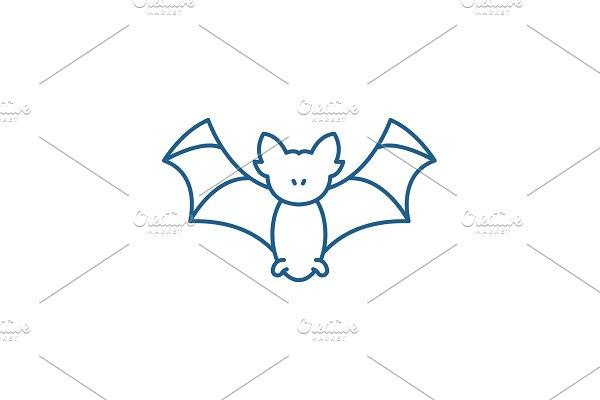 Bat line icon concept. Bat flat