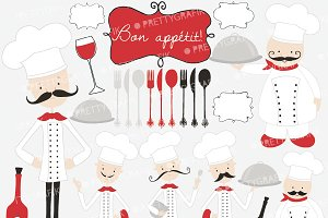 chef kitchen clipart commercial use