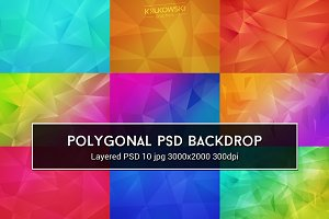 Polygonal PSD Backdrop