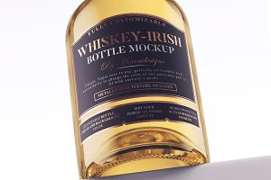 Whiskey-Irish Bottle Mockup