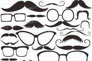 Moustache Prop, Mustache clipart