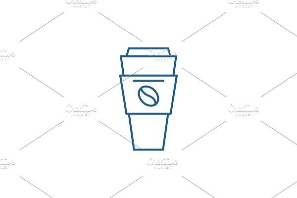 Coffee mug with you line icon