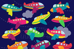 Airplane Clipart and Vectors