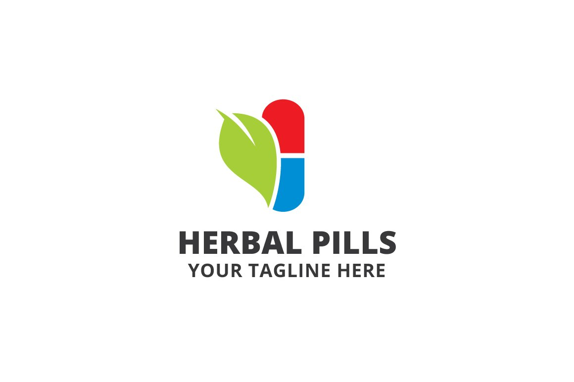 Herbal Pills Logo Template