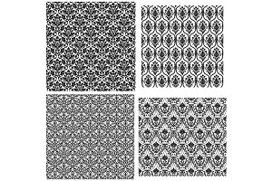 4 Damask Seamless Patterns
