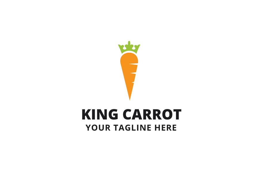 King Carrot Logo Template