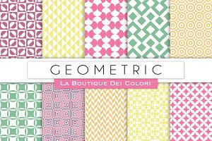 Pastel Geometric Digital Papers