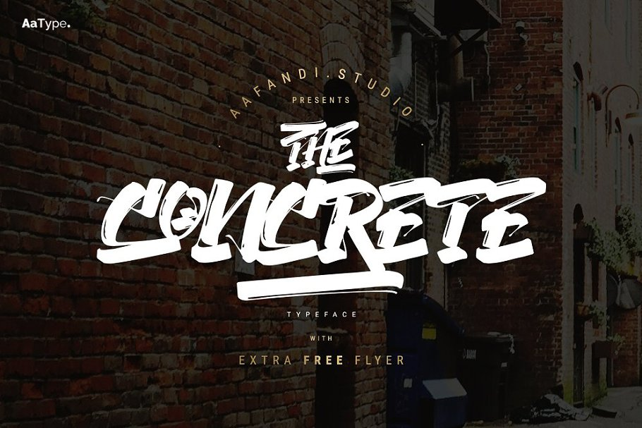 The Concrete Graffiti Font in Graffiti Fonts