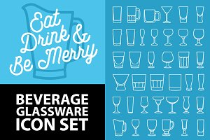 Bar Beverage Glassware Icons