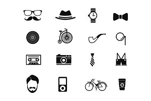16 Hipster Icons