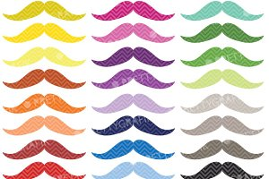 Rainbow Moustache and Mustache