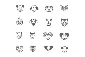 16 Cartoon Animal Icons
