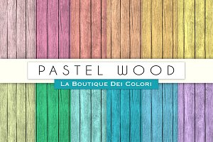 Pastel Wood Digital Textures