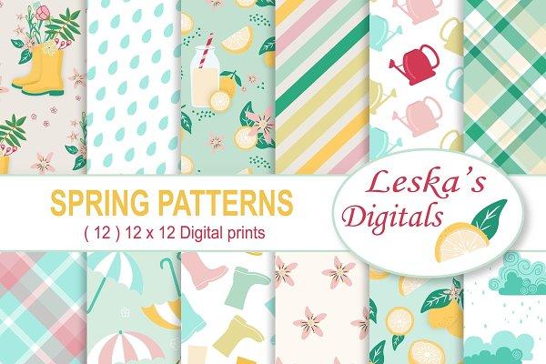 Spring Digital Scrapbook Paper Pack