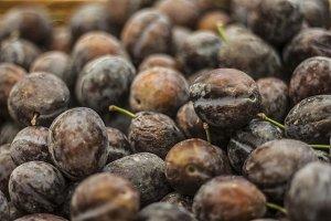 Pluot fruit closeup