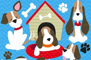 puppy dog clipart commercial use