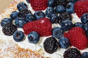 Raspberry Blueberry rustic tart