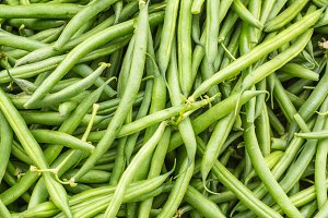 Green beans at the market