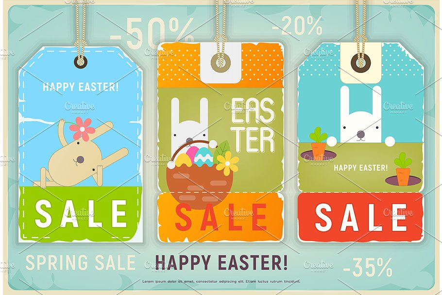 4 Easter Sale Tags