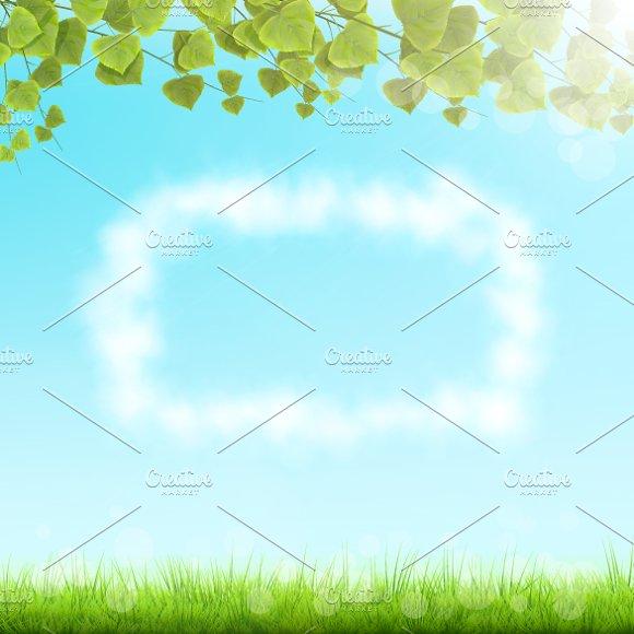 Cloud Frame On Sky Background.
