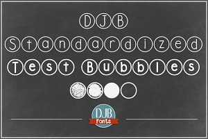 DJB Standardized Test Fonts