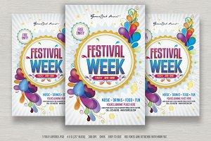 Festival Week Flyer