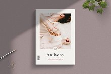 ANTHONY - Magazine Template by  in Magazines