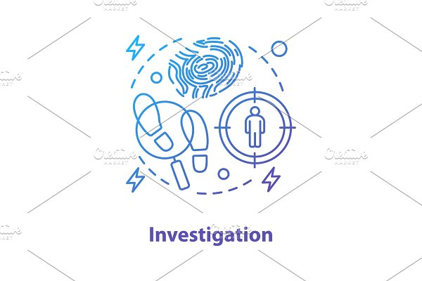 Investigation concept icon