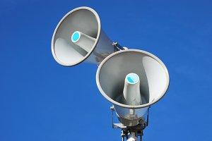 megaphones. speakers