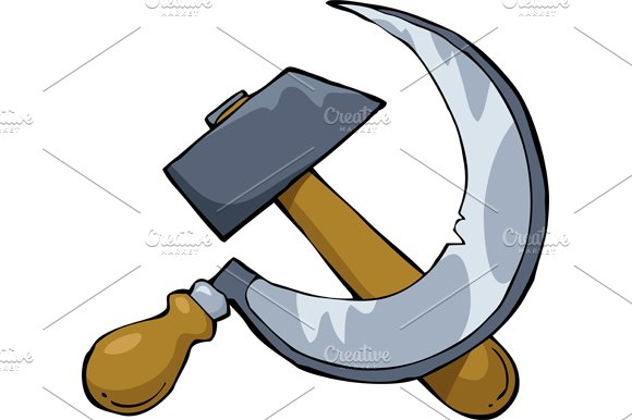 Hammer and sickle in Illustrations