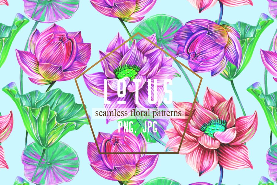 Botanical lotus patterns