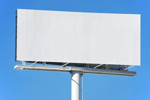 Empty billboard advertisement panel