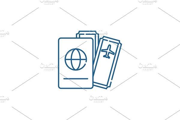 Flights line icon concept. Flights