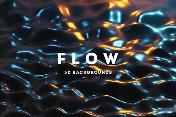 Flow - 25 Liquid 3D Backgrounds