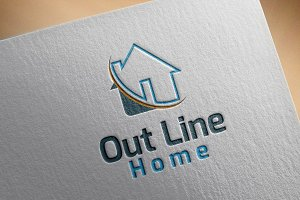 Out Line Home Style Logo