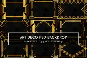 Art Deco PSD Backdrop