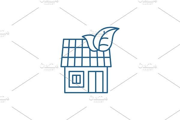 It house line icon concept. It house